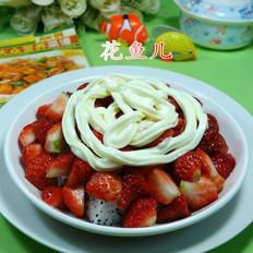 沙拉火龙果草莓