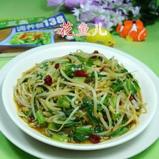 油麦菜炒绿豆芽