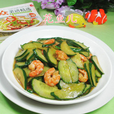 虾肉炒青瓜