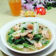 秀珍菇虾仁炒小白菜