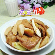 茭白烧豆腐干的做法[图]