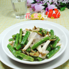 榨菜丝秀珍菇梅豆