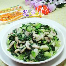 蘑菇炒手捏菜