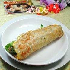 火腿肠鸡蛋飞饼卷