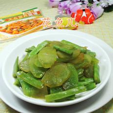 梅豆炒莴笋
