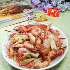 榨菜丝腐竹炒河虾
