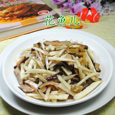 香菇榨菜丝炒茭白