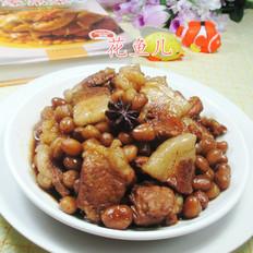 花生米烧猪肉
