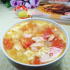 鸡蛋番茄虾仁汤