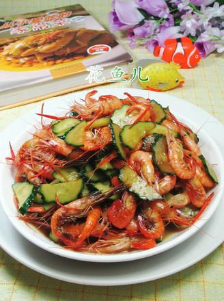 青瓜炒河虾的做法