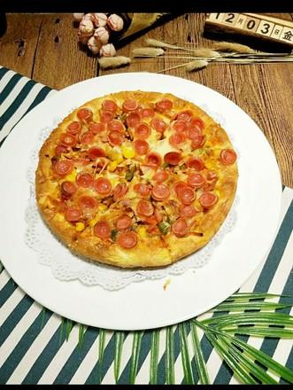 奥尔良口味厚底披萨的做法