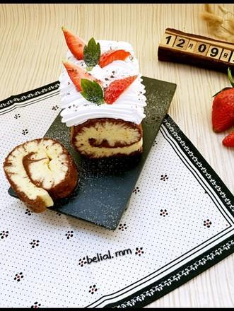 双味蛋糕卷的做法