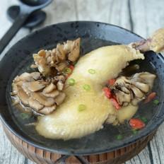灰树花炖鸡汤