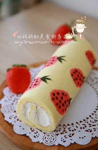 草莓彩绘蛋糕卷全部作品
