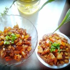 鸡丁炒土豆丁