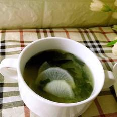 清淡白萝卜味增汤