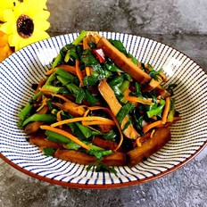 卤豆干炒韭菜