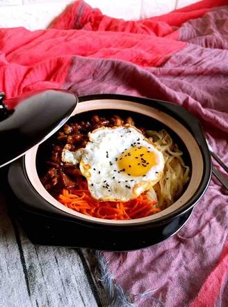 卤牛肉石锅拌饭的做法