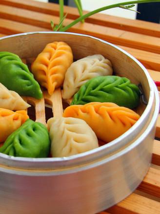 三色麦穗蒸饺的做法