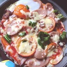 自制香肠蔬菜披萨