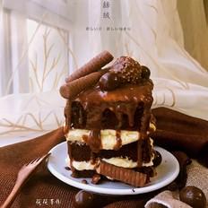 红丝绒巧克力淋面蛋糕