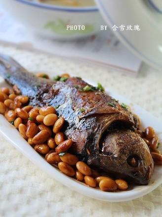 黄豆煮鱼的做法