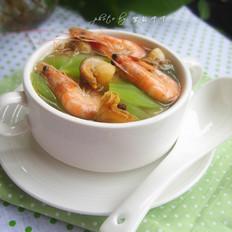 莴笋海鲜汤