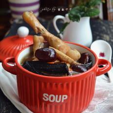 鲜灵芝煲鸡汤