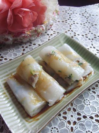 韭菜猪肉肠粉的做法