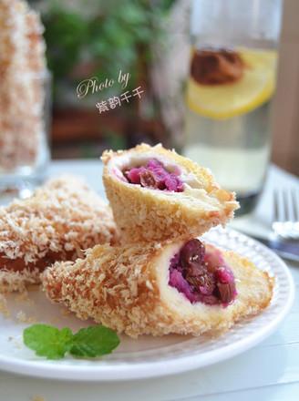 广东紫薯面包角的做法