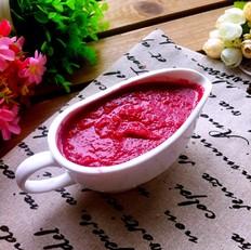 红甜菜头果泥