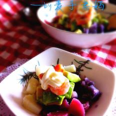 彩色土豆色拉
