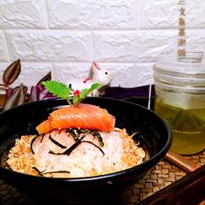 烟熏三文鱼茶泡饭