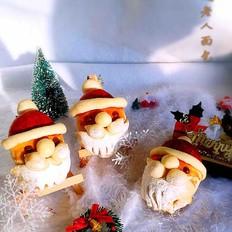 圣诞老人玫瑰酱面包#霸王超市#