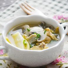 冬笋蘑菇鸡丝汤