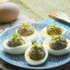 鸡蛋酿冬笋肉丸
