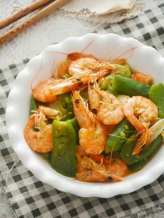 丝瓜炒虾的做法