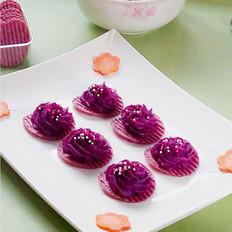 让紫薯吃起来更诱人--奶香紫薯泥