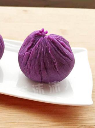 紫薯糯米茶巾绞