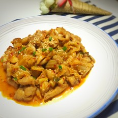 韩式泡菜炒鸡肉