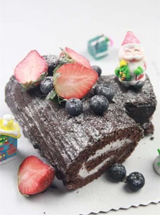 圣诞节树根蛋糕
