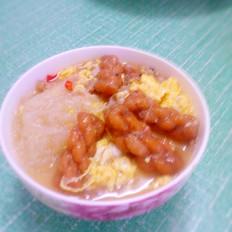 麻花鸡蛋肉汤
