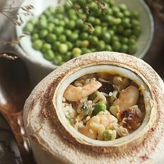 芝士椰子海鲜焗饭