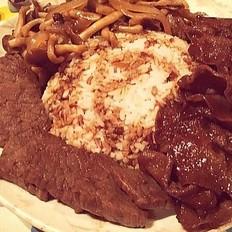 日式烧牛肉牛舌饭
