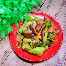 油菜炒双菇