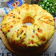 时蔬面包#丘比沙拉汁#