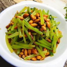 芹菜凉拌醋花生米