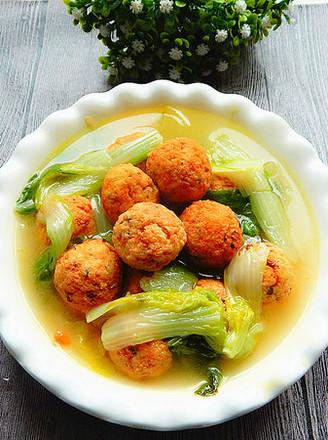 小白菜豆腐丸汤的做法
