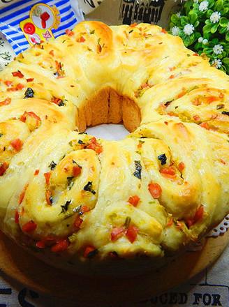 时蔬面包#丘比沙拉汁#的做法