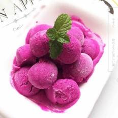 红龙果冰淇淋